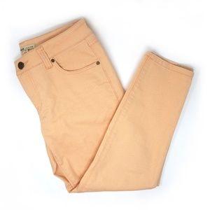 Cabi | Cropped orange creamsickle Bree jeans, sz 6